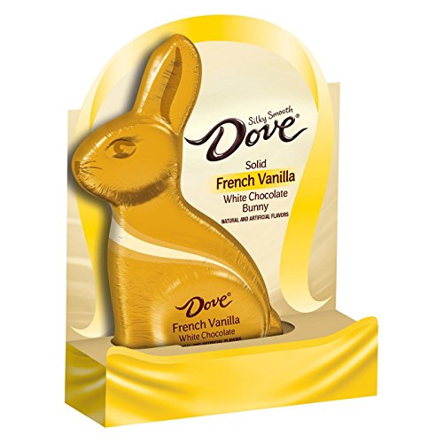 DOVE Easter French Vanilla White Chocolate Bunny - ()