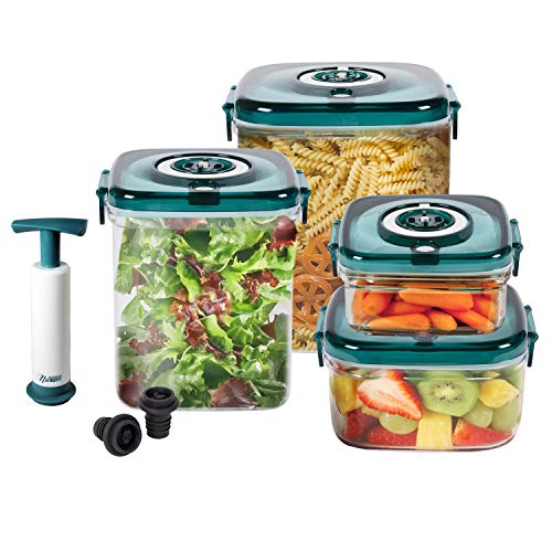 NuWave Flavor-Lockers Food Storage System Vacuum Containers (Best Food Storage System)