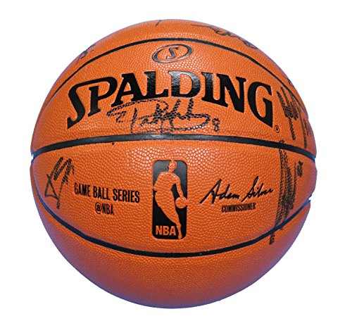 San Antonio Spurs 2014-15 Team Autographed Signed Spalding NBA Game Replica Basketball PAAS COA Duncan Leonard Parker