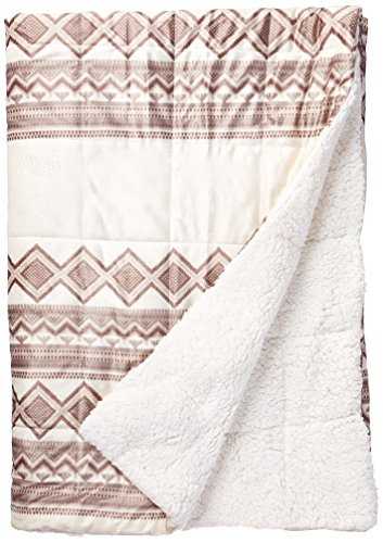 Anderson Print Mink Down Alternative Filled Throw Natural 50
