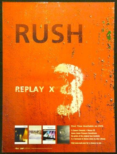 Rush - Replay X3 - Rare Advertising Poster