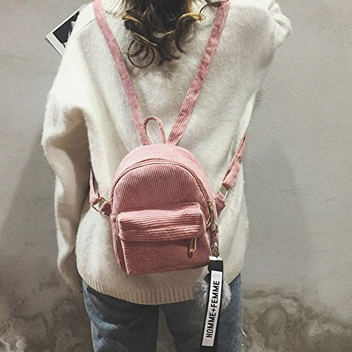 pink Backpack High Capacity Fashion Lady Zipper Bag Mini Shoulder Long Lasting Women Symboat q71wUv