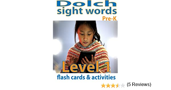 Dolch Sight Words Flash Cards & Activities: Level 1 (Sight Words ...
