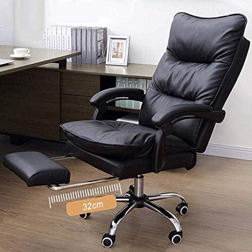 QNN Chaise de Bureau, Chaise de Bureau Avec Dossier Haut Et Repose-Pieds, Durable Et Stable, Réglable En Hauteur, Qualité Supérieure