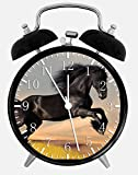 "Best IkEA clock - Beautiful Black Horse Alarm Desk Clock 3.75"" Room Review"