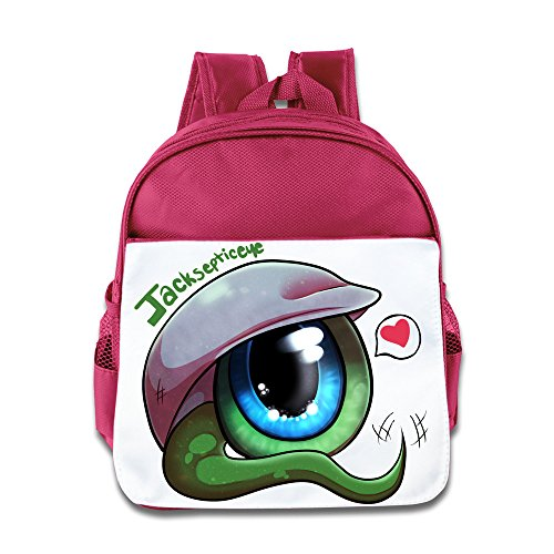 XJBD Custom Cute Big Eyes With Heart Children School Bagpack Bag For 1-6 Years Old Pink