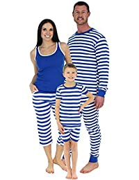 b7328cdce428 Family Matching Sleepwear Cotton Striped Pajama Sets for Vacation