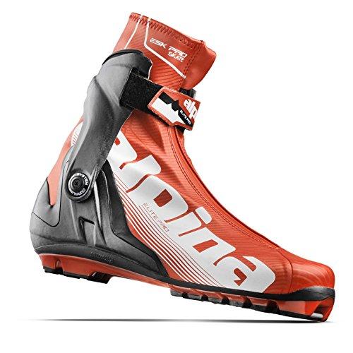 Alpina Men's ESK Pro WC Skate Boots Red/Black/White - covid 19 (Pro Skate Boot coronavirus)