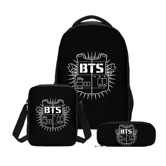 BTS niñ Carteras y accesorios para bolsos Estuches Mochila ...