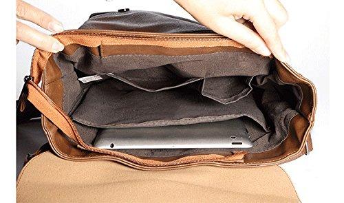 Kenox Vintage PU Leather Laptop Backpack Knapsack Rucksack Weekender Daypack Bag