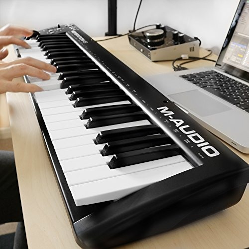 M-Audio Keystation 49 II | 49-Key USB MIDI Keyboard Controller with Pitch-Bend & Modulation Wheels - Image 2