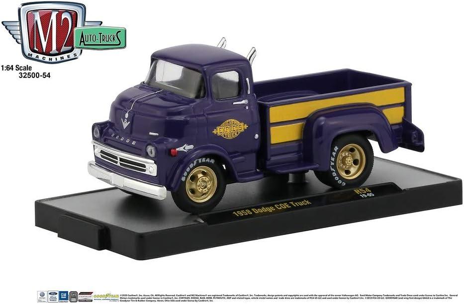 embalaje original 1958 Dodge coe Truck Purple woody ** m2 machines trucks box 1:64 nuevo