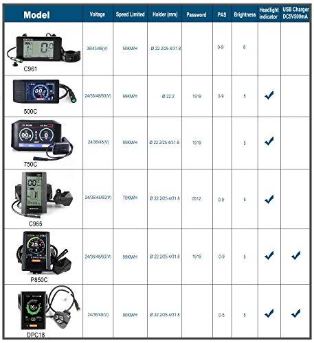 BAFANG 8fun LCD 750C 850C C18 C965 C961 DPC07 KD718 Display