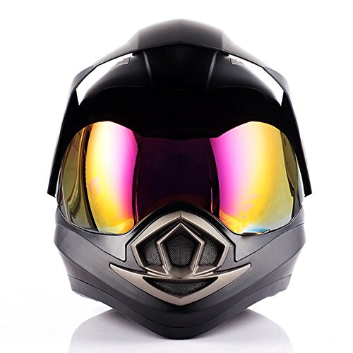 Dual Sport Helmet Motorcycle Full Face Motocross Off Road Bike Matt Black by 1Storm (Image #4)