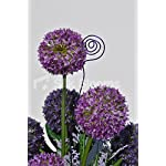 Beautiful-Artificial-Purple-Allium-and-Green-Leaf-Floral-Table-Display-w-Wire-Detailing