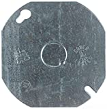 Steel City 54C6 Outlet Box Cover, Octagon, Flat, Blank, 4-Inch Diameter, Galvanized