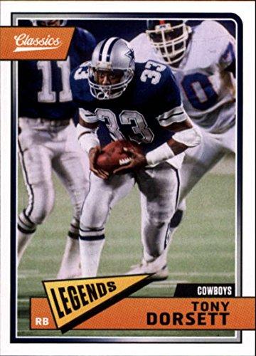 - 2018 Classics Football #120 Tony Dorsett Dallas Cowboys Legend Panini NFL Card