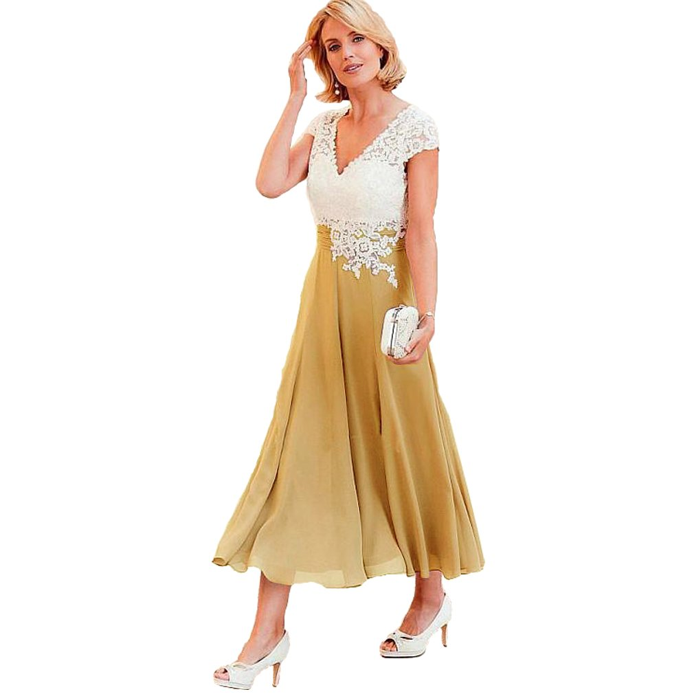 6a70aeeb2fc Gold Mother Of The Bride Dresses Tea Length - Data Dynamic AG