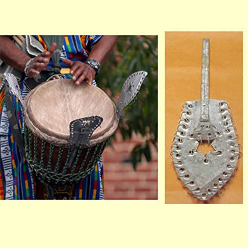 African Djembe Drum Shaker   Tribal Percussion Musical Instrument (Tuner) ()