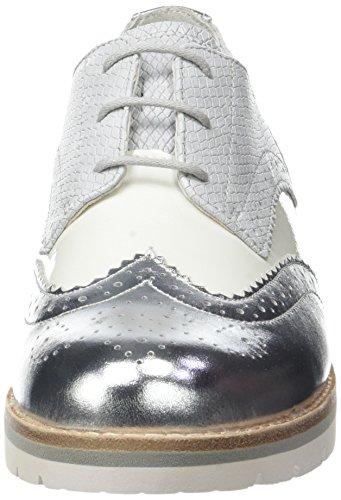 Gabor Comfort, Scarpe da Ginnastica Basse Donna Bianco (Weiss/Silber 51)