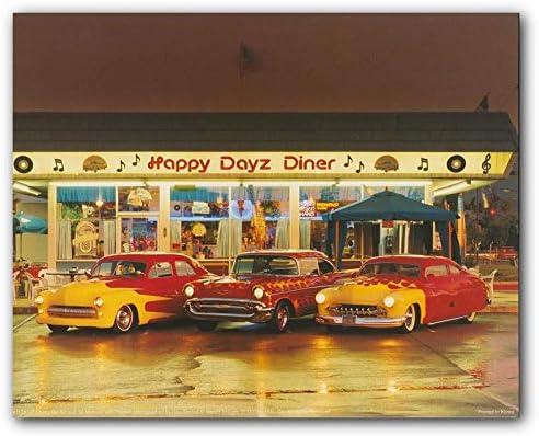 Happy DayZ Diner 57 Chevy Bel Air 50's Mercury Car Wall Decor Art Print Poster (16×20) – The Super Cheap