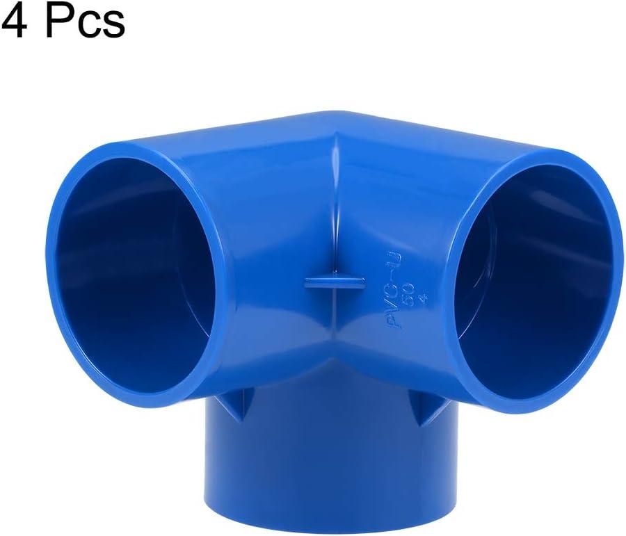 Muebles de Pvc 10 piezas sourcing map Codo de Conexi/ón de Pvc de 4 V/ías en T Accesorios de Codo de Pvc para Rociadores de Irrigaci/ón Azul 20mm