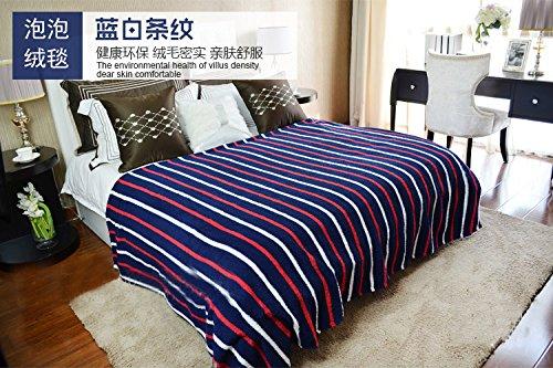 Doble espesor Otoño e Invierno cobijas gruesas solo estudiante hostales sábanas toallas frazadas coral dobles tienen aire acondicionado siesta cubierta y ...