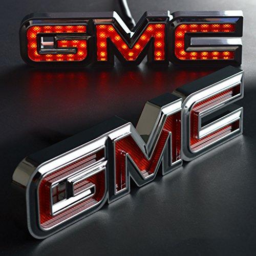 - GMC Liftgate emblem Logo-GMC Licensed LED Tailgate Light – Chrome finish, 2000-2013 GMC Sierra 1500 Tailgate Emblem, 2007-2014 Yukon Tailgate Emblem