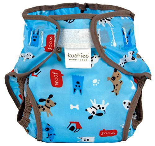 Kushies Waterproof Diaper Wrap, Blue Woof, Infant