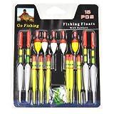 Drift Tube - SODIAL(R)15pc Professional assorted Sizes Fishing Lure Floats Bobber Slip Drift Tube