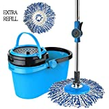 UNIEL Smart Spin Microfiber Mop and Bucket with 2 Microfiber Mop Heads (Full Set)