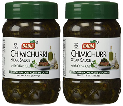Badia Chimichurri Steak Sauce with Olive Oil, 8 oz (2 Pack) (Badia Sauce)