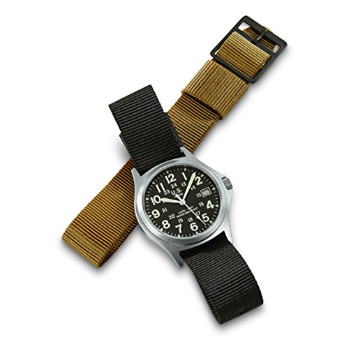 Military-Style Army Stainless Steel Watch with 2 Bands by BRAND NOT SPECIFIED