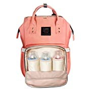 HEYI Diaper Bag Backpack Travel Large Spacious Tote Shoulder Bag Organizer