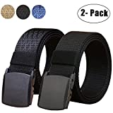 WYuZe 2 Pack Nylon Belt, Outdoor Military Web Belt Men's Tactical Webbing...