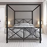 DHP 4068029 Rosedale Canopy Bed, Full, Black