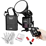 Godox AD360II-C 360Ws GN80 TTL Speedlite Flash with Built-in Godox 2.4G Wireless X System, Wireless Remote Trigger and 4500mAh Battery Pack for Canon