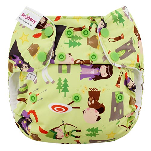 Blueberry One Size Simplex All in One Cloth Diapers, Made in USA (Robin Hood)