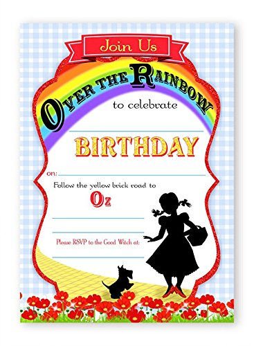 Wizard of Oz Invitations - 10 Invitations + 10 Envelopes ()