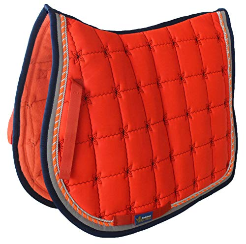 Tackus Horse Cotton Quilted All Purpose English Saddle PAD Trail Contoured Orange 72F37