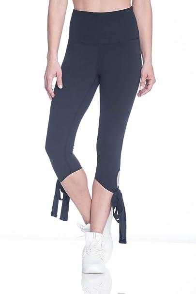 e31781691a91c Gaiam Women's Om Violet High Rise Waist Capri Ballet Compression Leggings -  Black Tap Shoe,