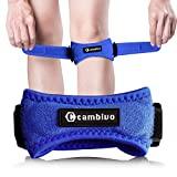 CAMBIVO Patella Knee Strap, 2 Pack Pain Relief Knee Brace & Patellar Tendon Support Band for Running, Hiking, Volleyball, Jumpers Knee, Tendonitis, Arthritis and Injury Recovery (Blue)