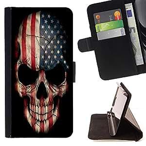 - Skull Devil Pattern - - Prima caja de la PU billetera de cuero con ranuras para tarjetas, efectivo Compartimiento desmontabl FOR LG G2 D800 Lady Case