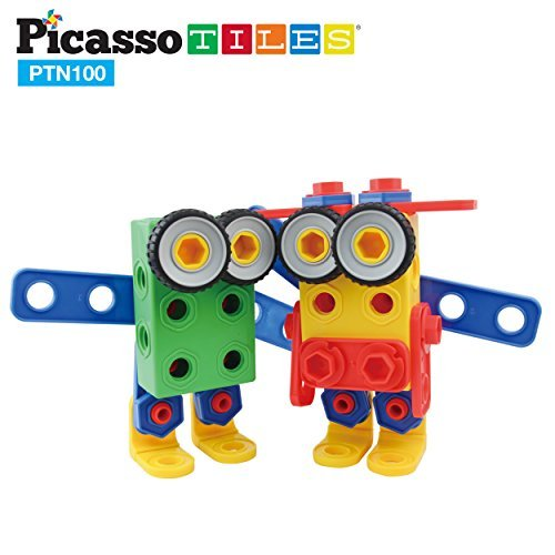 PicassoTiles Learning S.T.E.A.M. Engineering Toy Kit 100 Pie