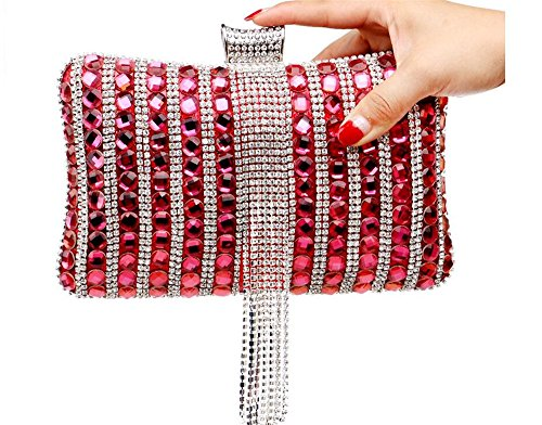 Shaped Glitter For Evening Clubs Pillow Diamonds Nightclub Rrock Bag Pearls Women Red Shell Hard Wedding Clutch Handbag Party 7Yq4SwR5