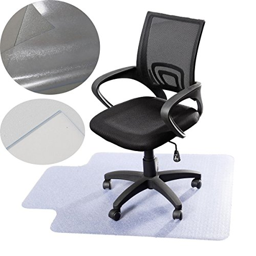 Marketworldcup - Pro Desk Office Chair Floor Mat Protector for Hard Wood Floors 48'' x 36'' - Hardwood Loveseat