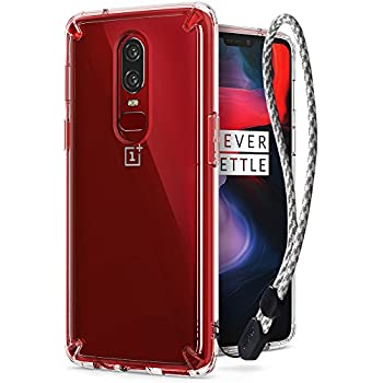 huge selection of a935d a2eac Amazon.com: Ringke [Fusion] Compatible with OnePlus 6 Case Crystal ...