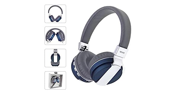 Amazon.com: AutumnFall FE-018 Stereo Audio Blutooth 4.0 Earphone Auriculares Bluetooth Headset Wireless Headphones For IPhone iPod iPad PC (Navy): Beauty