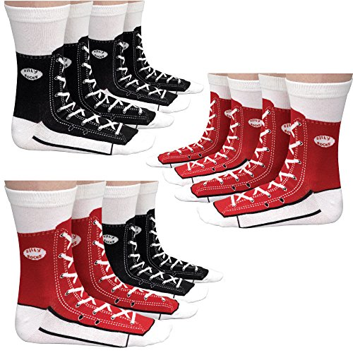Bits and Pieces - 2 Pairs of Unisex Socks - Sneaker Silly Socks - Adult Funny Socks
