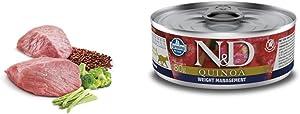 Farmina Natural & Delicious Quinoa Feline Weight Management Lamb Cans 12./2.8 oz